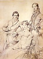 Mr. and Mrs. Woodhead with Rev. Henry Comber as a Youth, 1816, ingres