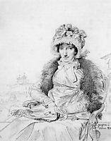 Mrs John Mackie, born Dorothea Sophia de Champs, ingres