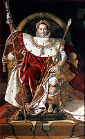 Napoleon I on his Imperial Throne, 1806, ingres
