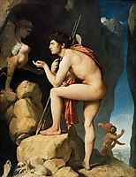 Oedipus and Sphinx, 1808, ingres