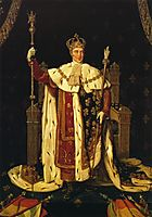 Portrait of Charles X in Coronation Robes, 1829, ingres