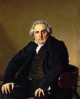 Portrait of Louis-Francois Bertin, 1832, ingres