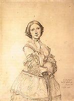 Portrait of Madame Panckoucke (drawing), 1811, ingres