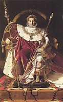 Portrait of Napoléon on the Imperial Throne, 1806, ingres