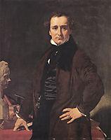 Portrait of the Sculptor Lorenzo Bartolini, 1820, ingres