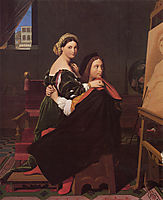 Raphael and the Fornarina, 1814, ingres