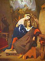 Raphael and Fornarina, 1840, ingres