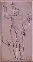 Study naked for St. Remy, ingres
