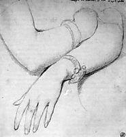 Study for Princesse Albert de Broglie, born Josephine Eleonore Marie Pauline de Galard de Brassac de Bearn, ingres
