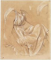 Study of seated woman, ingres