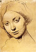 Study for Vicomtesse d-Hausonville, born Louise Albertine de Broglie, ingres