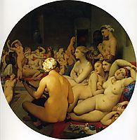 The Turkish Bath, 1863, ingres