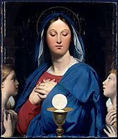 The Virgin of the Host, 1866, ingres