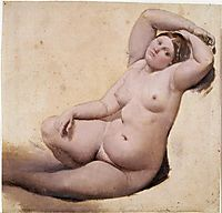 Women with three arms, ingres