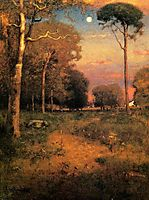 Early Moonrise, Florida, 1893, inness