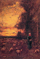 End of Day, 1855, inness
