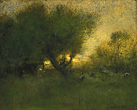 In the Gloaming, 1893, inness