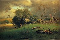 The Storm, 1885, inness