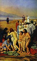 The Appearance of Christ to the People (detail), c.1845, ivanov