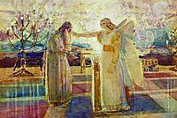 Archangel Gabriel struck Zechariah mute, 1824, ivanov