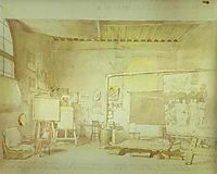 Artist-s Workshop in Rome., c.1830, ivanov