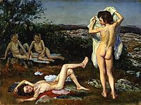 Four nude boys, 1824, ivanov