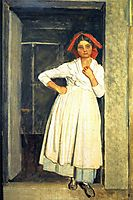 A girl from Albano standing in the doorway, ivanov