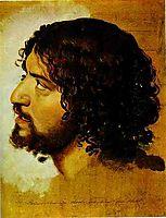 A Head of a Young Man, c.1845, ivanov