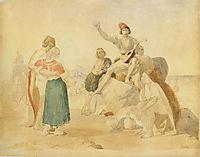 Italian scene, 1838, ivanov