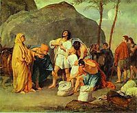 Joseph-s Brothers Find the Silver Goblet in Benjamin-s Pack, 1833, ivanov