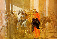 The Mocking of Christ. From the biblical sketches., ivanov