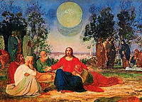 Preaching of Christ on the Mount of Olives about the second coming, 1840, ivanov