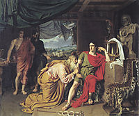 Priam asking Achilles for Hector-s body, 1824, ivanov