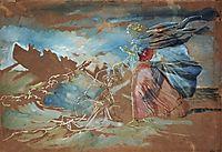 Walking on Water (Christ saves Peter began to sink), c.1855, ivanov