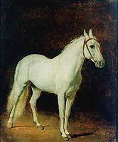 White horse. Study. , 1820, ivanov