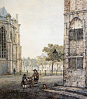 Grotekerksplein in Dordrecht, jacobvanstrij
