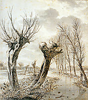 Landscape in winter , jacobvanstrij