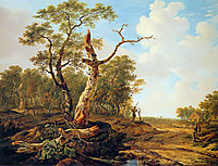 Landscape with dead tree , jacobvanstrij