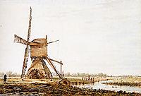 Landscape with watermill, jacobvanstrij