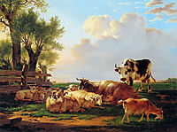Meadow with cattle, jacobvanstrij