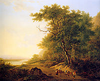 Mountainous landscape with travellers Sun__Mountainous-landscape-with-travellers, jacobvanstrij
