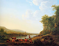 Mountainous riverlandscape, jacobvanstrij