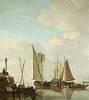 Two Boeiers and a Cat under Sail, jacobvanstrij