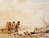 Winter landscape , jacobvanstrij