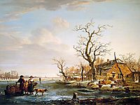 Winter landscape at Drevel, jacobvanstrij