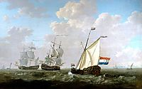 The yacht of the VOC Chamber of Rotterdam 1790, jacobvanstrij