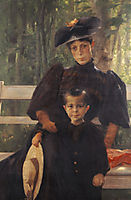 The Artist-s Wife with Their Son, 1895, jakobides