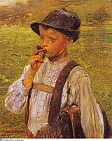 Boy Smoking, 1900, jakobides