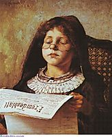 Girl Reading, 1882, jakobides