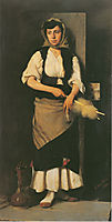 Girl with Distaff and Spindle, 1876, jakobides